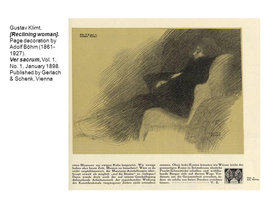 Gustav Klimt, [Reclining woman].